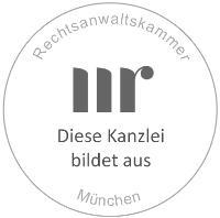 Rechtsanwaltskammer München - Diese Kanzlei bildet aus (Siegel)